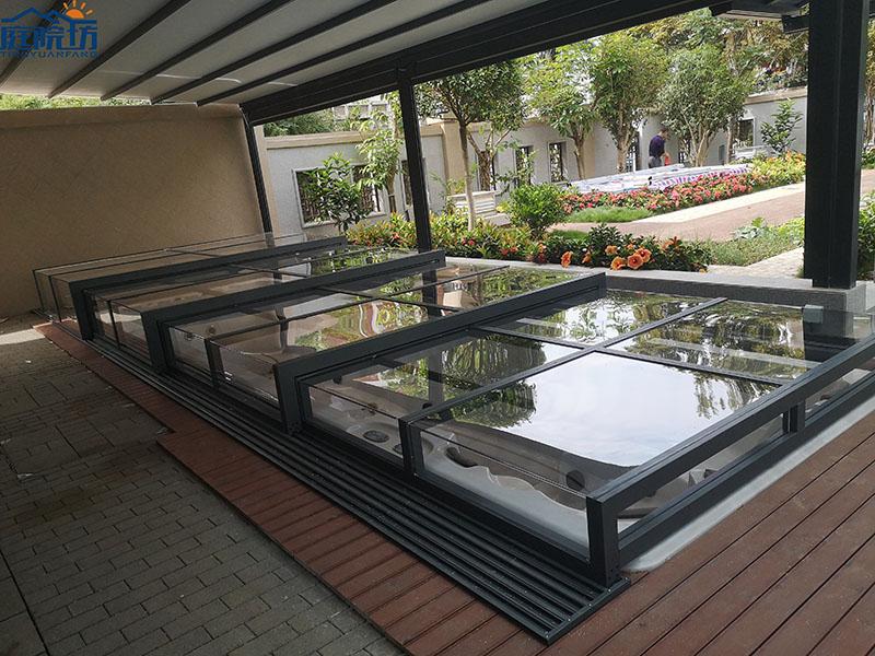 天井盖游泳池盖
