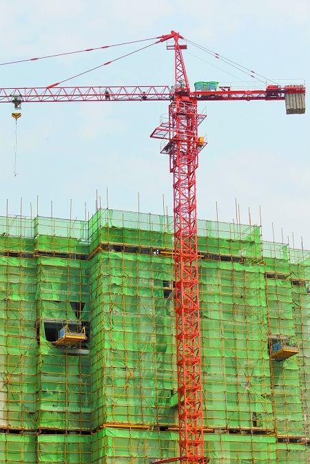 张家口某建筑工程采用塔吊施工图