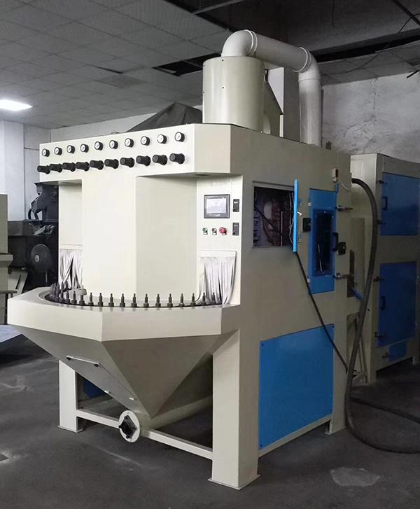 40工位连续式转台自动喷砂机