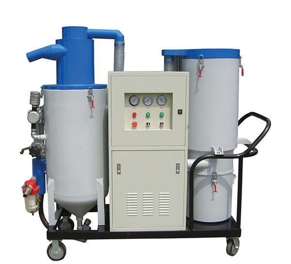 移动开放式自动回收喷砂机