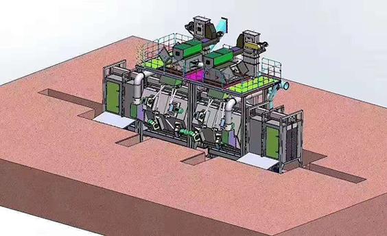 通过式抛丸机三维产品|产品展示|可定制