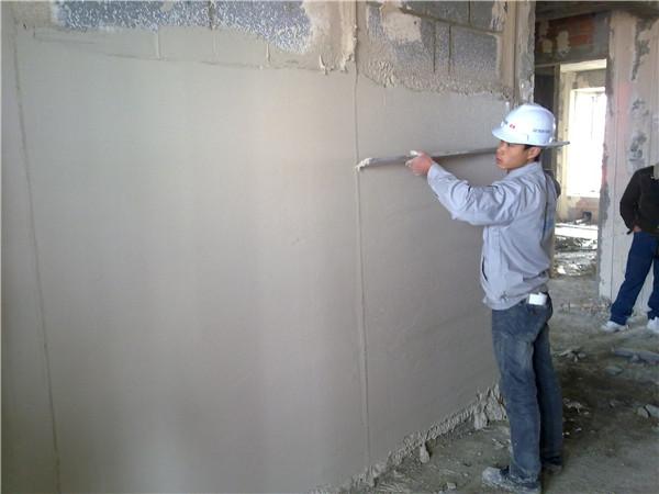 抹面砂浆施工现场