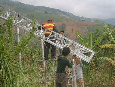 太阳能路灯施工现场