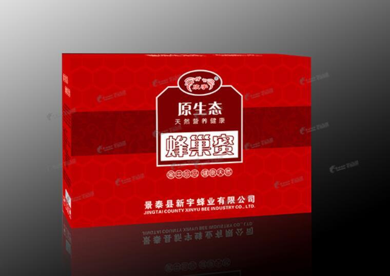 原生态蜂巢蜜产品包装设计