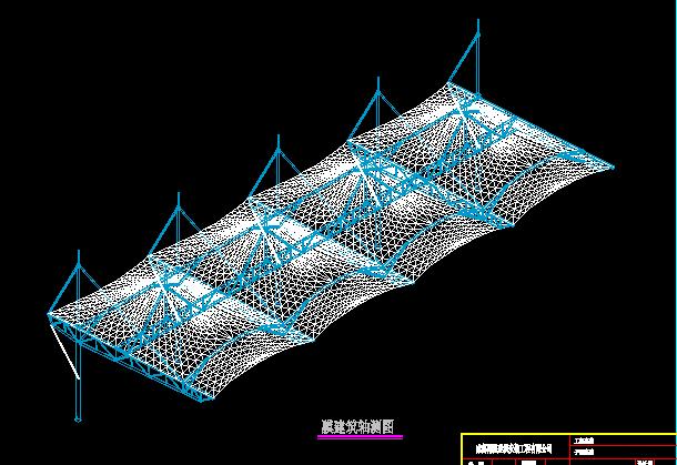 成都膜结构-体育看台膜结构方案图
