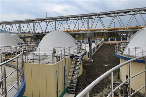 祝贺我司煜煜与青白江巨石集团成功合作污水池膜结构 污水池膜结构加盖 污水处理厂膜结构项目顺利竣工