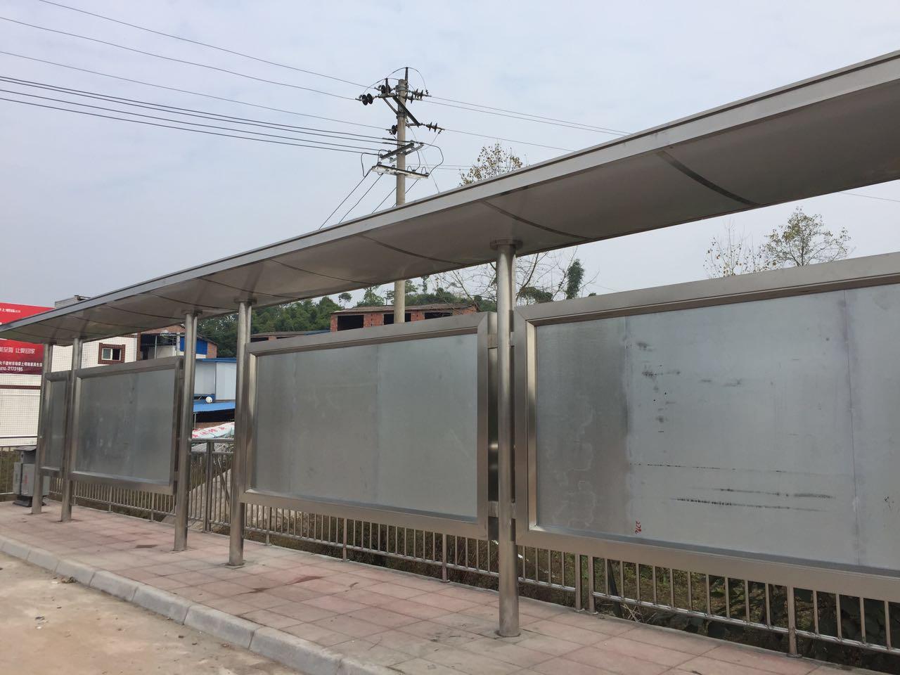 不锈钢工程-公交站台