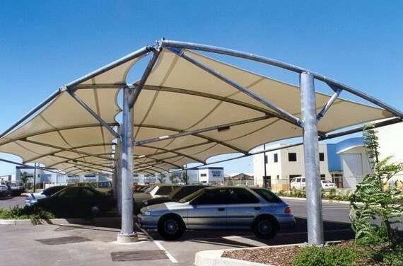 膜结构车棚安装