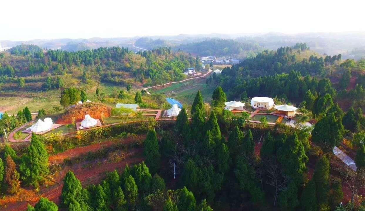 太乙仙山景观膜结构工程案例