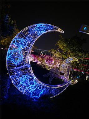 成都新年公园景点led光彩亮化工程3