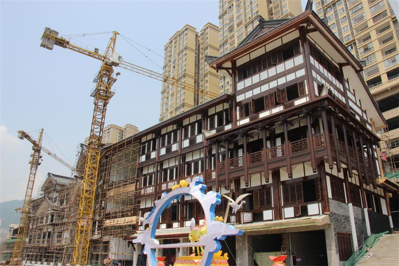 川英古建筑施工案例-巴中荣新两江国际仿古街