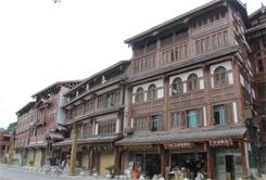 貴州仁懷茅臺鎮銀灘路風貌改造古建筑施工客戶見證