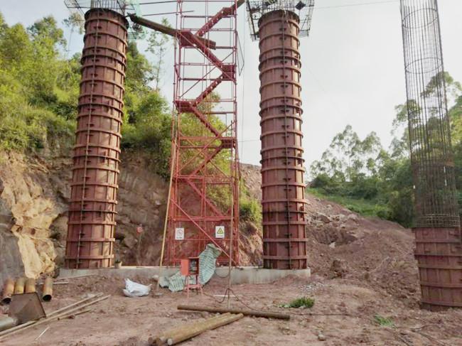 中铁21局合壁津项目12米圆柱模板