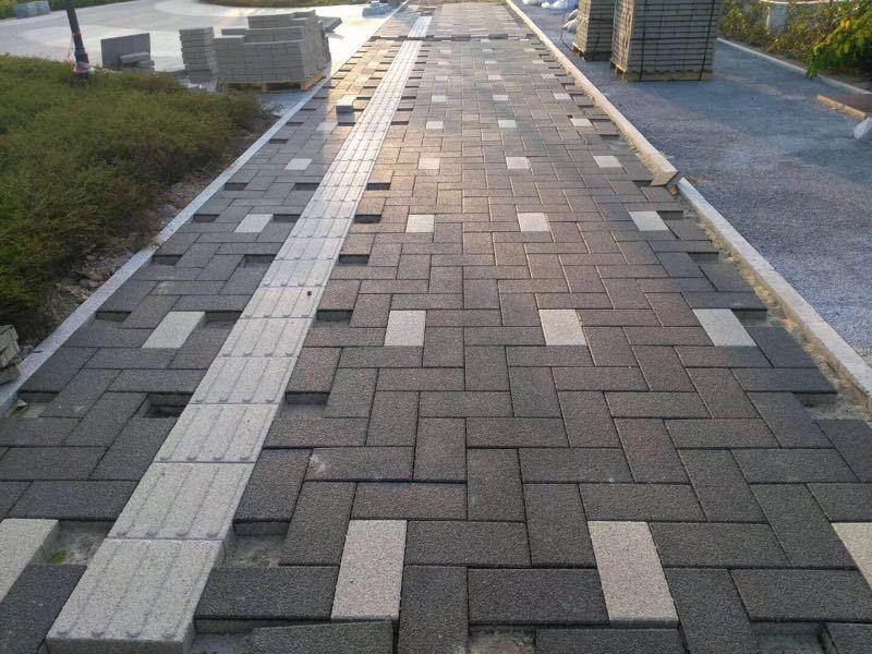 城市路面透水砖效果图