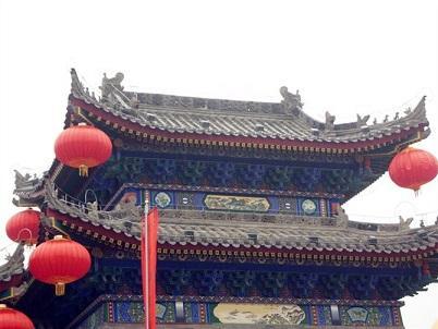 陕西仿古建材-楼观财神殿戏楼