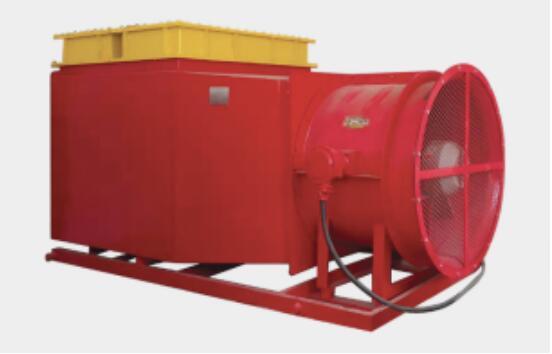 陕西华东防爆电热风机组助力陕煤集团榆林某矿矿井口加热工