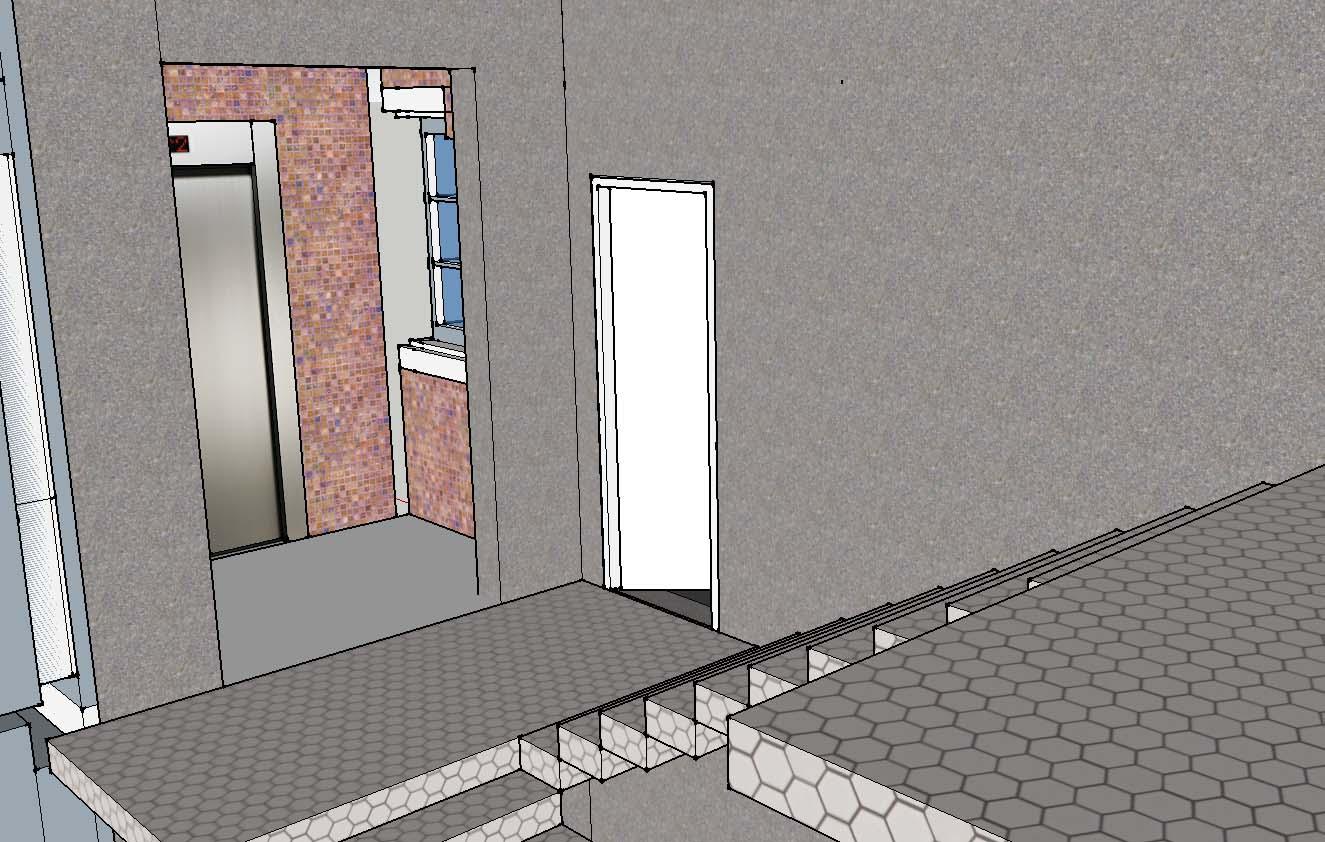 楼梯改造平层入户式