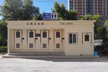 景区移动厕所现场拍摄