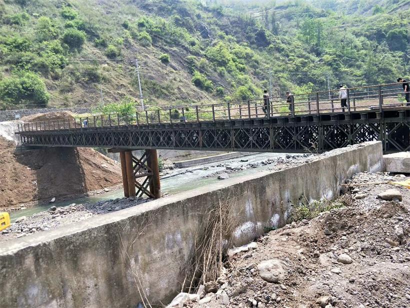 四川钢便桥工程案例