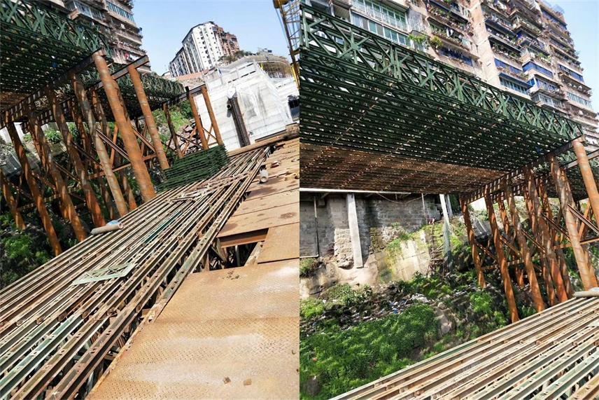 重庆贝雷桥钢便桥工程案例