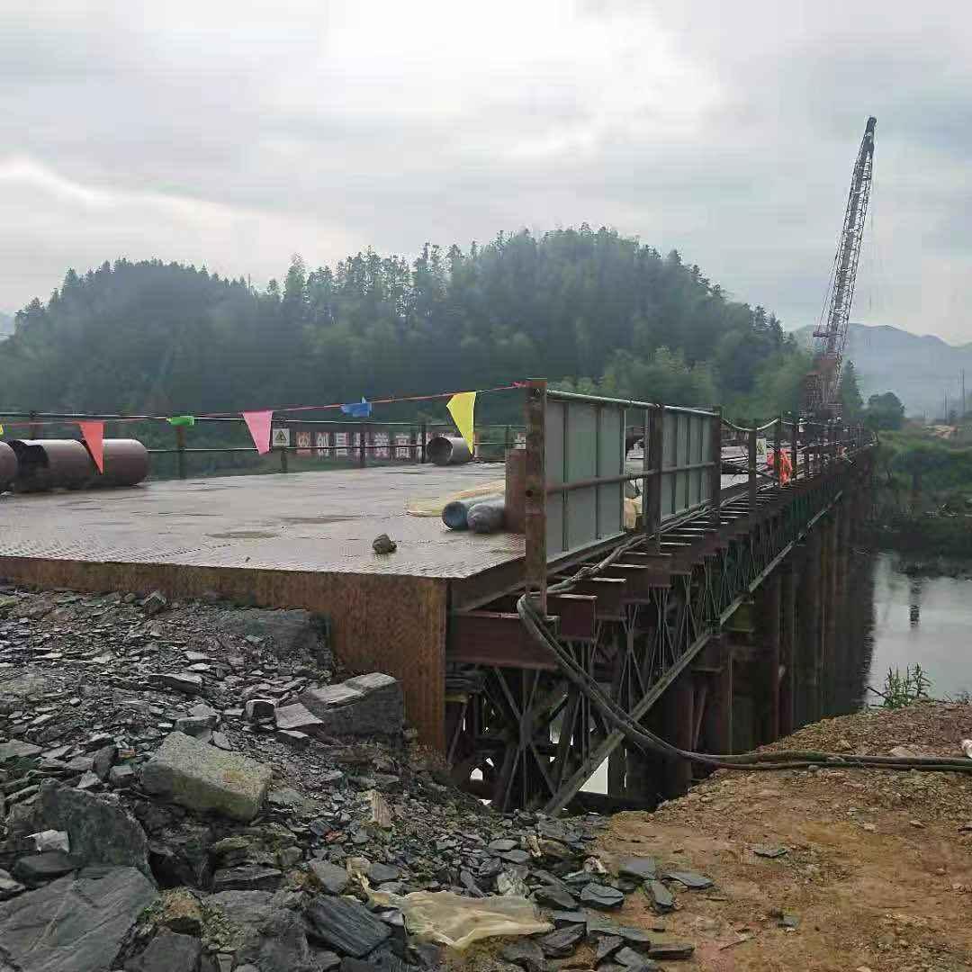 安徽省黄山——钢便桥客户见证