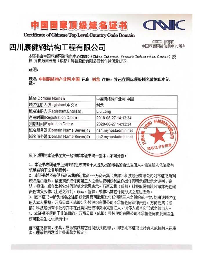 中国**域名证书