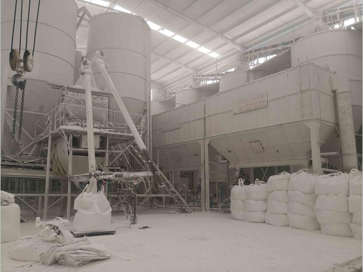 宛龙钙粉生产加工车间展示