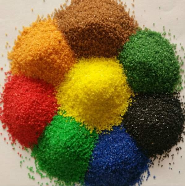 天然材料制成 颜色经久不褪 低成本彩砂 广泛使用