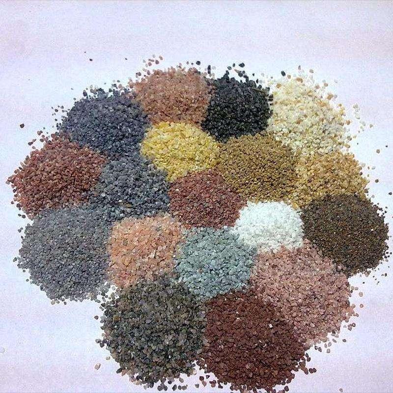 彩砂的注意事项你还不知道有这样吗?宛龙新材料来分享