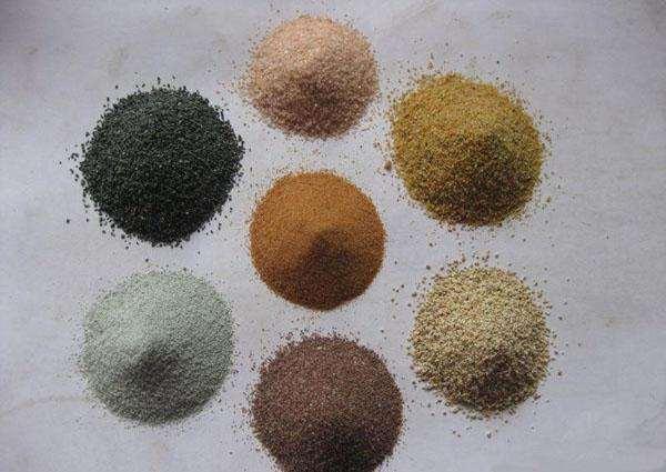 彩砂种类多样化宛龙新材料在这给大家讲解下金刚砂