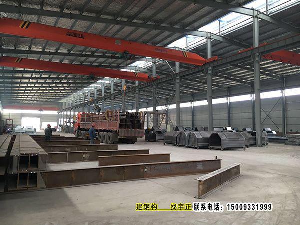 搭建H型重鋼廠房