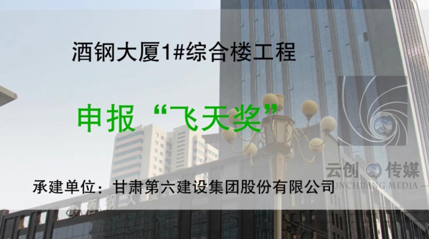 飞天奖甘肃六建集团-酒钢大厦项目