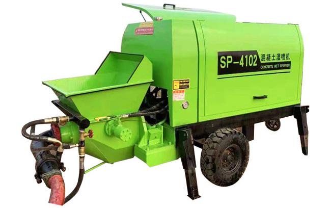 细石混凝土输送泵案例