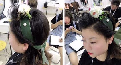 【兰州化妆培训】兰州化妆培训课堂实践