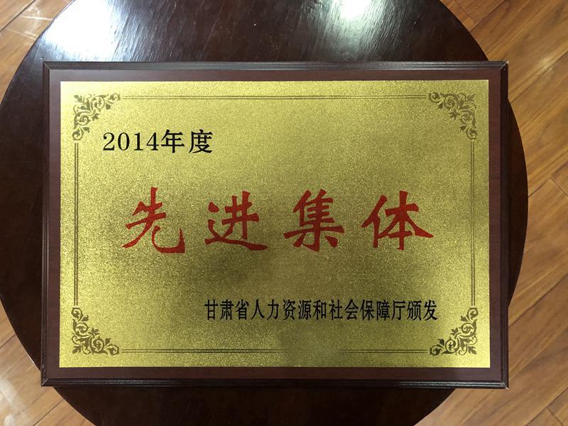 2014年度先进集体-甘肃佳丽共创学校