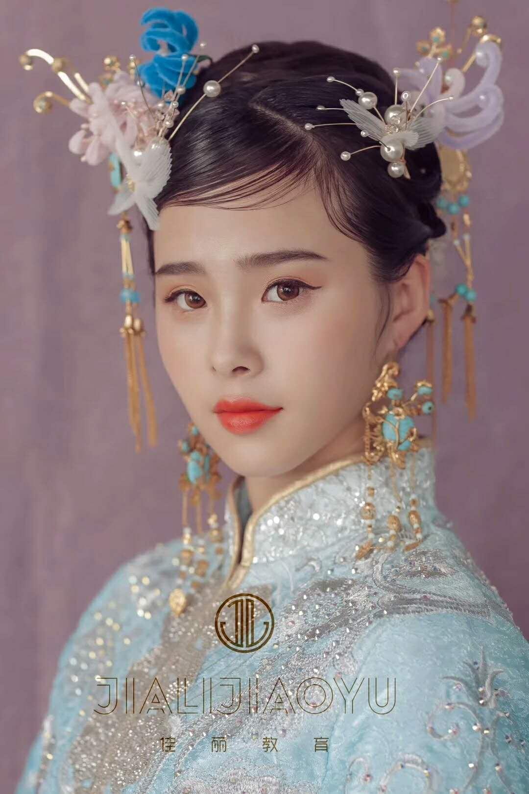 甘肃佳丽共创化妆培训学员作品新鲜出炉