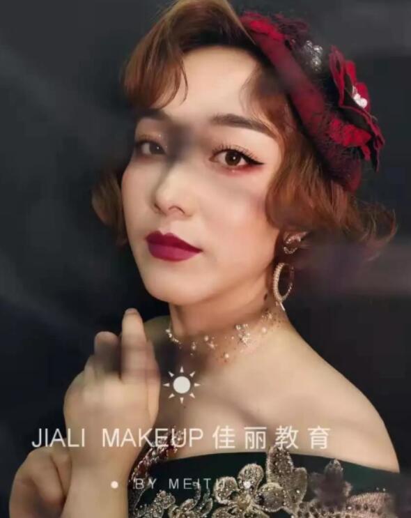 兰州学化妆学员作品