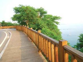 陕西防腐木护栏安装