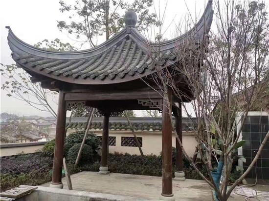 陕西古建木亭