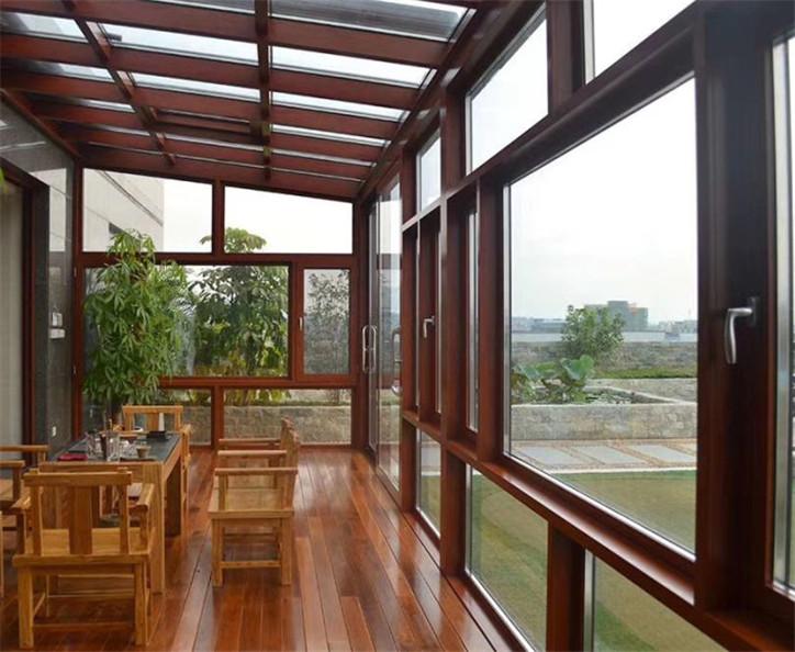 惠州定制玻璃顶阳光房_户外休闲区露天餐厅阳光房安装