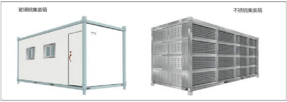 图1不同材料的集装箱