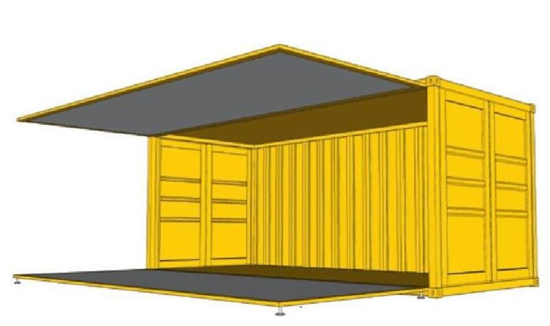 图3敞顶集装箱