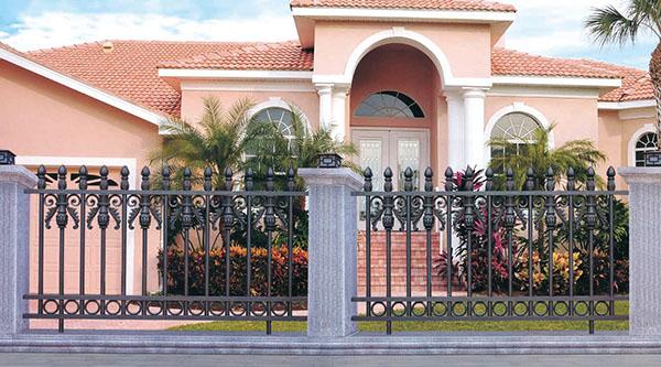 成都铝艺围栏为什么会替代铁艺不锈钢?