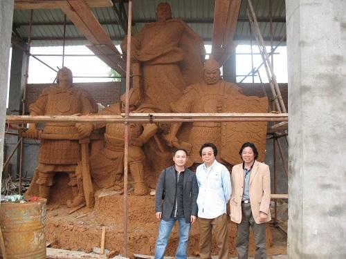 给著名雕塑家赵树桐先生制作的雕塑3