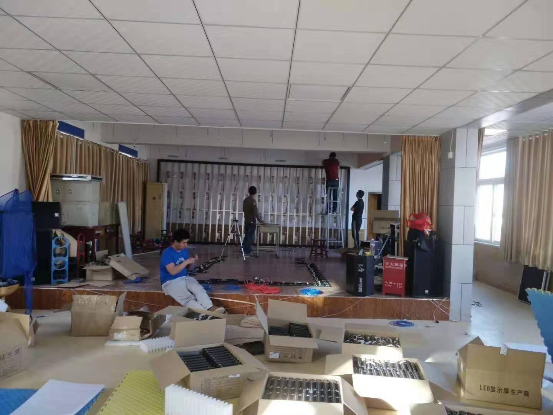 少年宫室内LED-P2.5及音响舞台安装案例