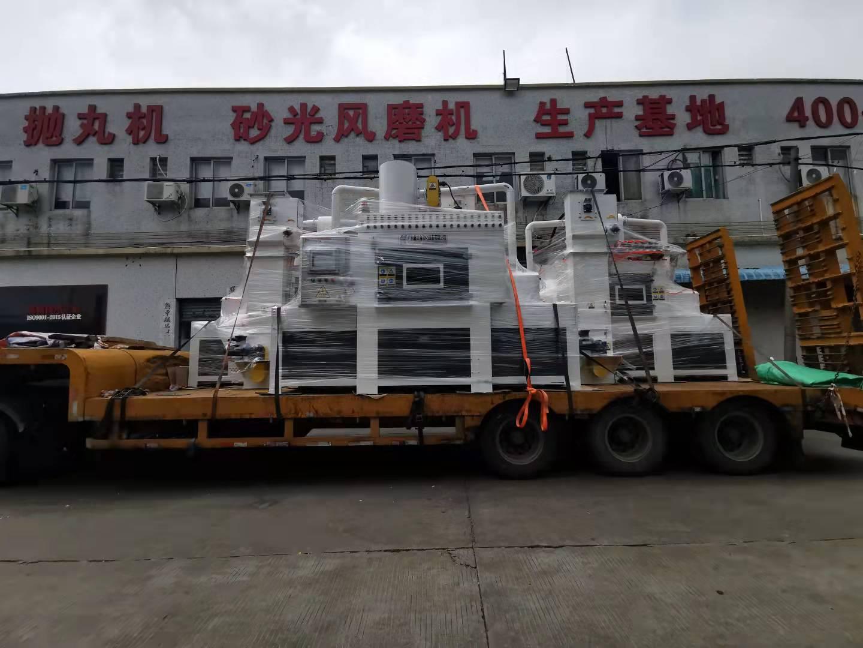 鑫太防爆输送式自动喷砂机,发往深圳富士康