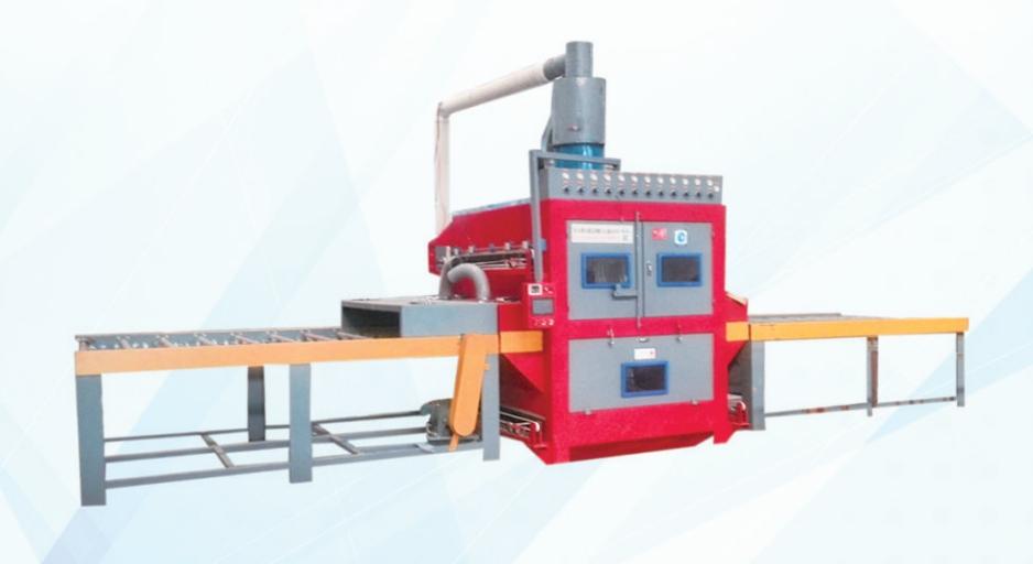 不锈钢板材双面自动喷砂机