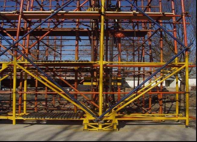 怎么安装广州爬架的导轨?