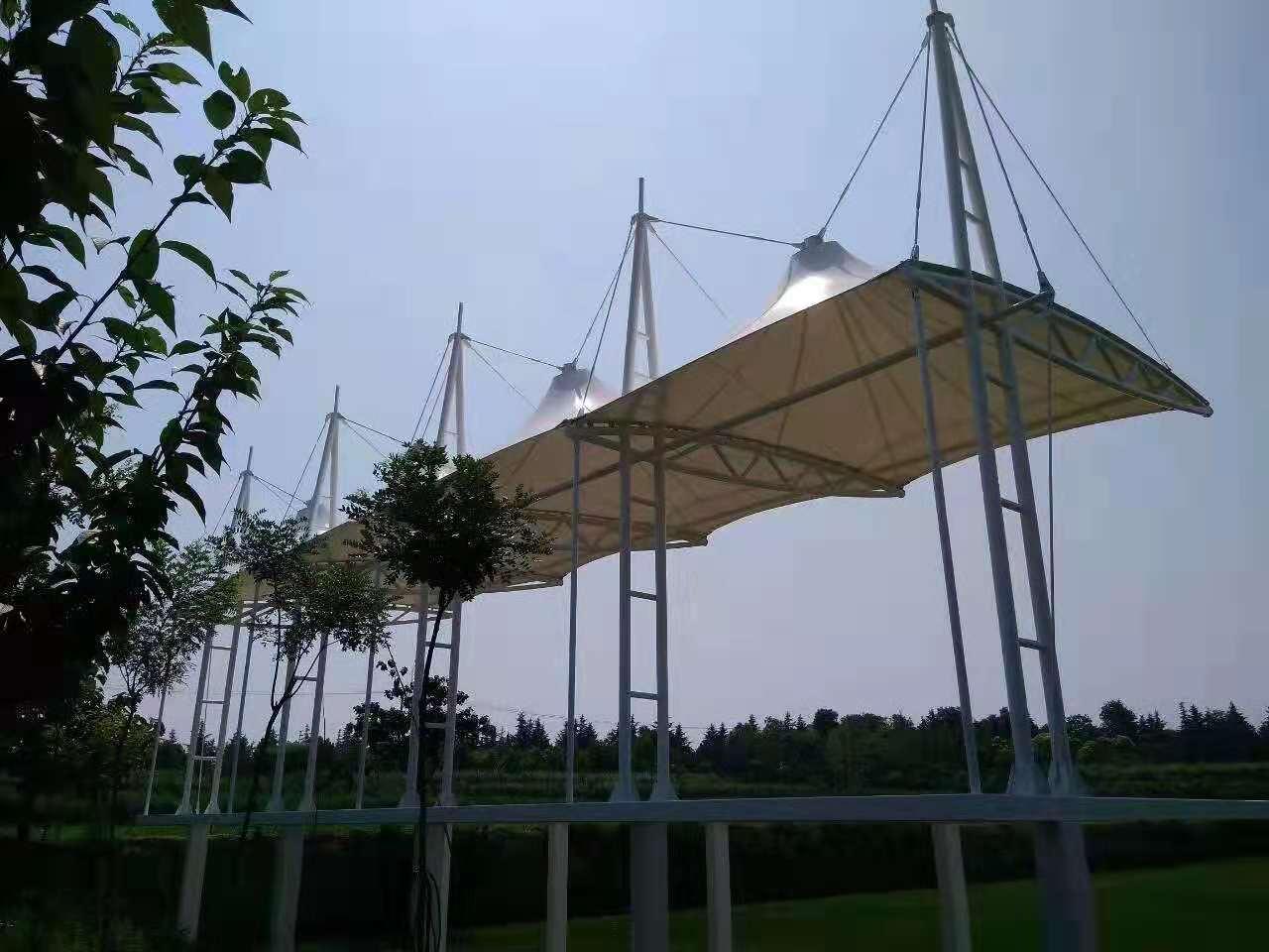 阎良农业观光园与我们合作张拉膜结构!