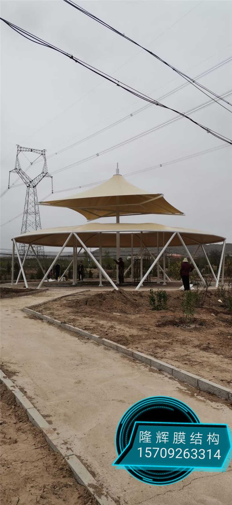 白银市平川区西山公园景观膜结构